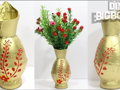 How to make Flower Vase with Plastic bottle | 3 | Unique idea 2018 | DBB