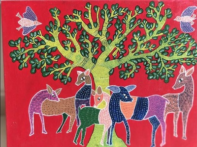 How to make Gond painting | Indian Art