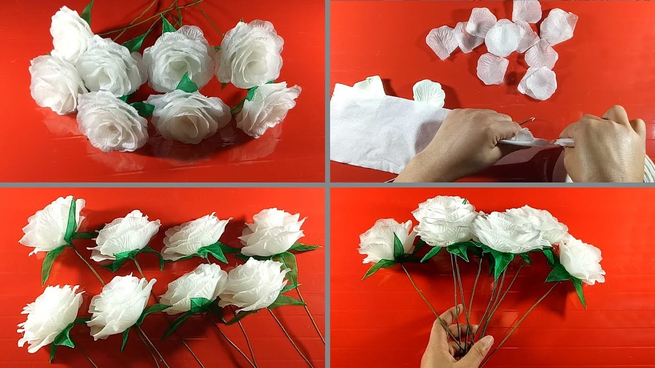how to make flower craft at home