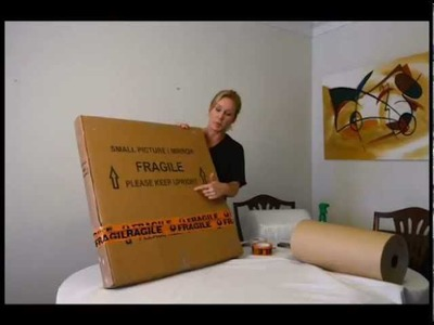 How to pack picture frames safely