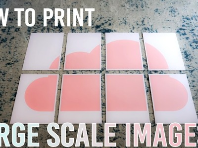 How to Print Large Scale Images on a Regular Printer