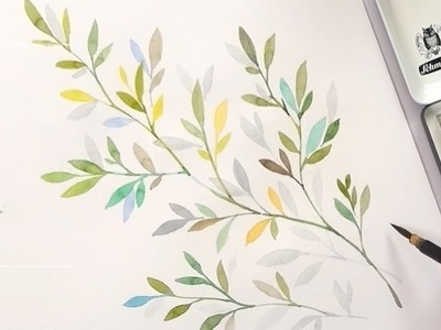 Learn to Paint Leaves for Beginners