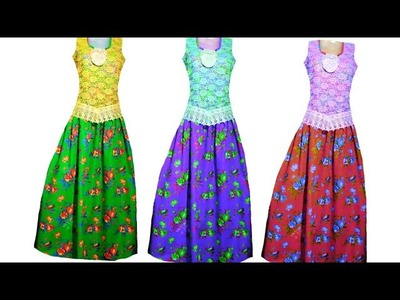 Long gown cutting and stitching very easy method in Hindi.  ????