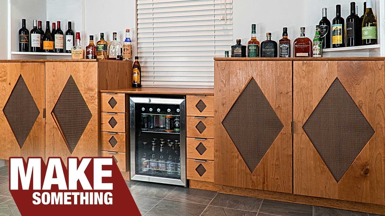 Making a Mod Style Built-in Beverage Bar | Woodworking Project