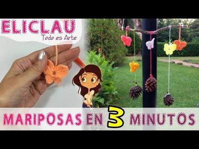 Mariposas en 3 minutos   Butterflies in 3'   EliClau