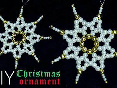 NEW-How to make snowflakes | Christmas decorations ideas | Christmas crafts |Beads art