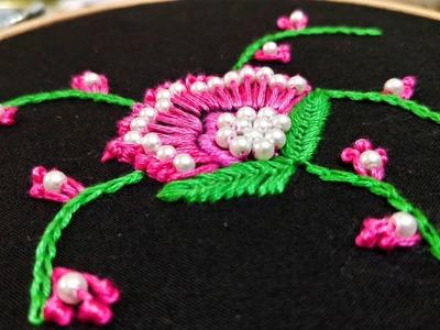 Oriental Poppy Flower (Hand Embroidery Work)