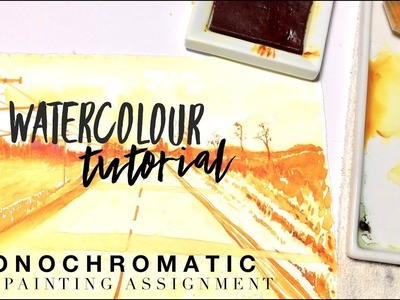 Painting with one color (Monochromatic) How to WATERCOLOUR by Scarlett Damen