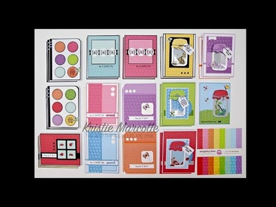 Queen & Co. Bug Jar kit and Delightful Dots - 31 cards from one 6x6