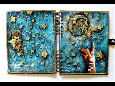 """""""Reach for the Stars"""" - Mixed Media Art journal Page by Sanda Reynolds"""