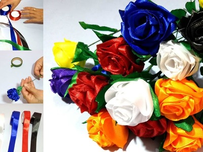Satin Ribbon Flowers for Special Occasion & Weddings
