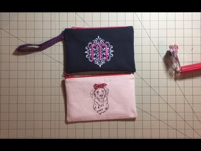 Sew Simple! Lined zippered pouch - for beginners!