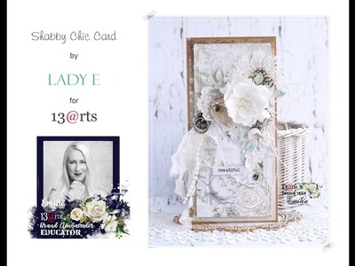Shabby chic card step by step