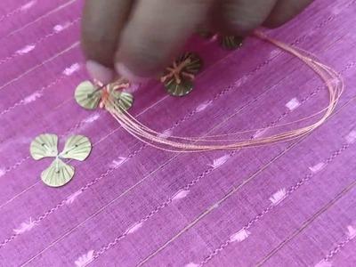Shell metal petal design for a kurta
