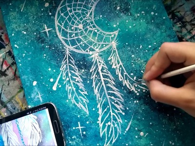 Speed Painting a Galaxy Dream Catcher Inspired by TheMindBlossom & Others