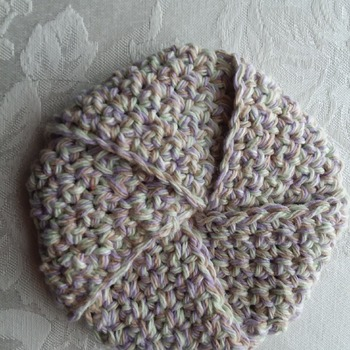 Tawashi (Scrubby) made with 100% cotton yarn - Beige 002
