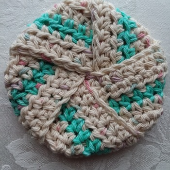 Tawashi (scrubby) made with100% cotton yarn - 007