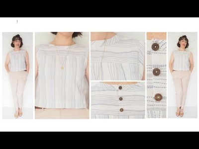 The Making of a Basic Shift Top with Yoke and Button Placket Detail