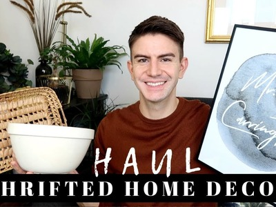 THRIFT HOME DECOR HAUL 2018 | JUMBLE SALE HAUL UK | MR CARRINGTON