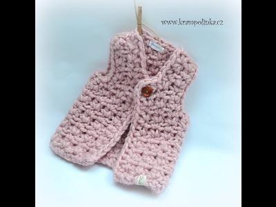 Vesta Oversize Baby Crochet Vest