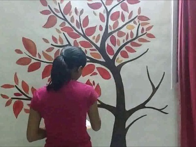 Wall painting Time lapse :The Autumn Tree