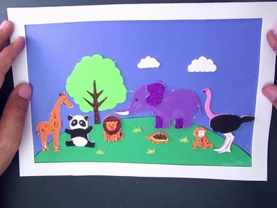 Wild Animals Zoo Cut and Paste for Kids 4 - Final Collection | Crafts For Kids