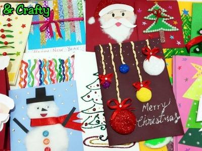 16 DIY Greeting Card Ideas. Christmas Card Ideas For Kids. Handmade Card Tutorial by Arty & Crafty