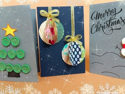 3 DIY⛄Christmas Cards!????Semple and Easy