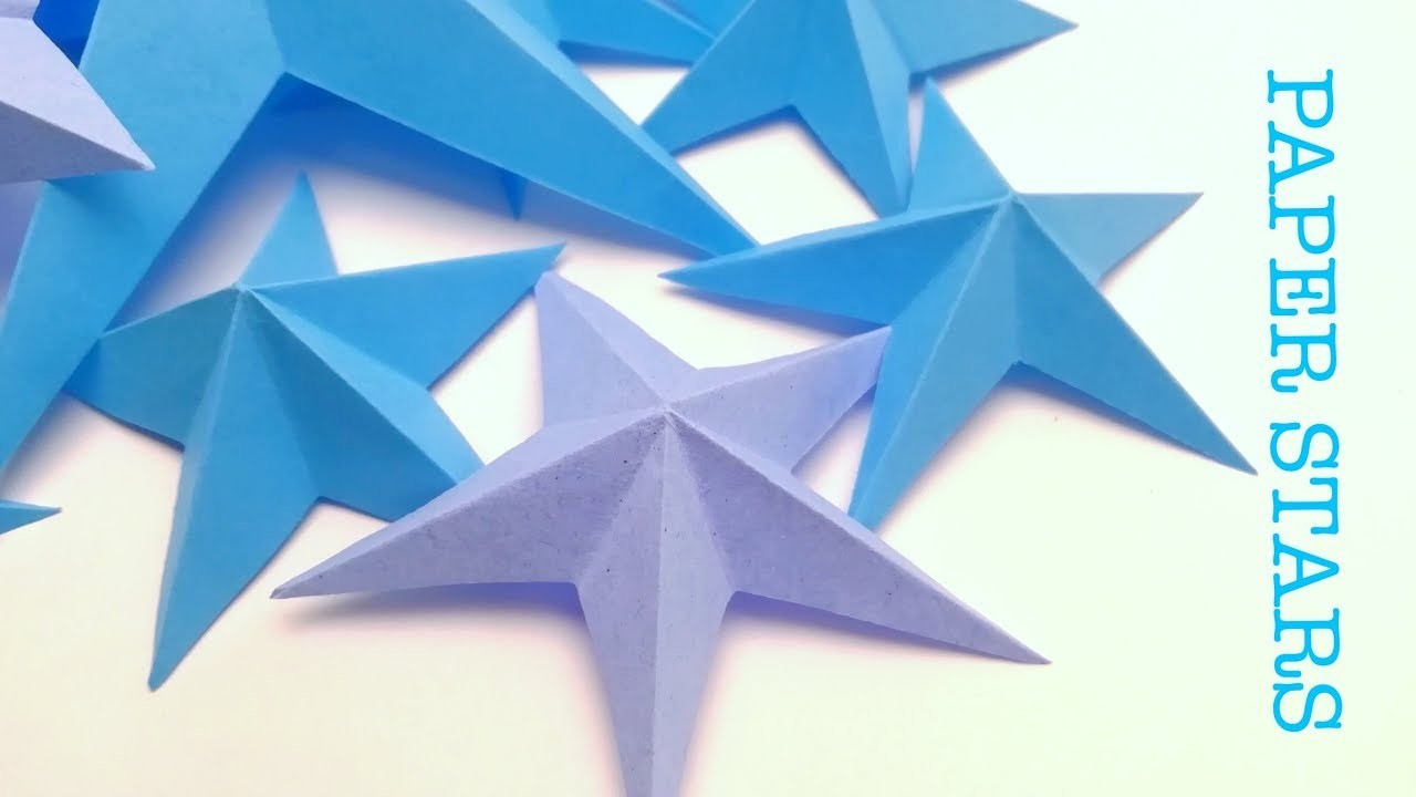 3D Paper stars DIY. Origami star. EASY!!!