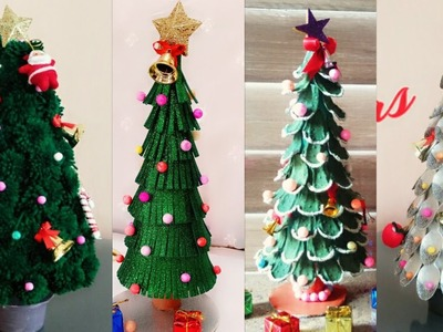 4 Easy DIY Christmas Tree Ideas.Christmas Tree Making Ideas.Christmas Tree Crafts for Kids
