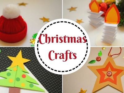 5 Easy Christmas Crafts for Kids | DIY Christmas Decorations at Home For Kids #christmascrafts