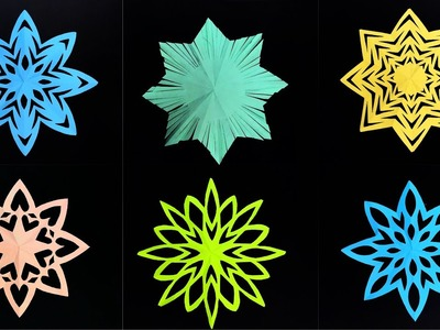 6 Easy Snowflakes designs for Christmas decoration - DIY Tutorial by Paper Folds - 966