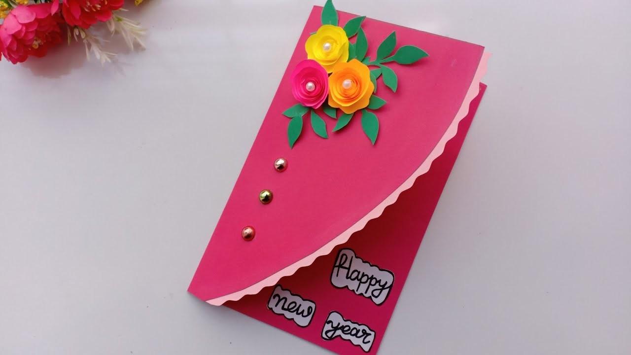 Beautiful Handmade Happy New Year 2019 Card Idea. DIY ...