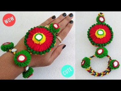 Best Home Made Hand Bracelet | How To Make Beautiful jewellery | Ornaments