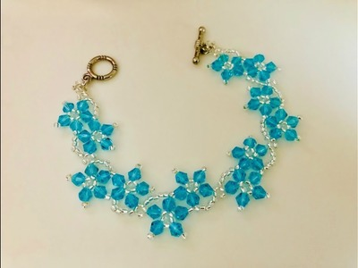 Blossom Beaded Bracelet or Necklace.DIY Beaded Bracelet