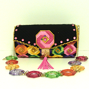 Candy Colored Jeweled Bargello Purse