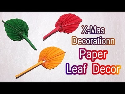 Christmas Decorating Ideas - How to make a Paper Leaf - Miniature DIY - Kids Craft