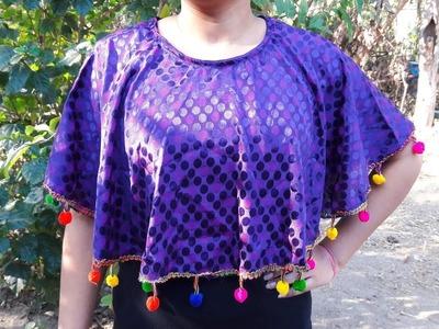 Circular cape kaftan dress easy stitching DIY