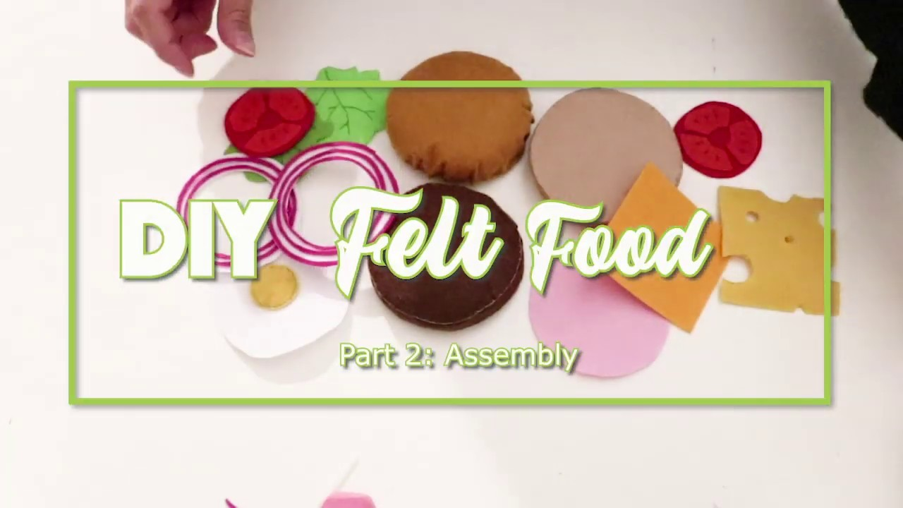 Crafty Mami - 5$ DIY Felt Foods for Your Kids [TUTORIAL PART 2]