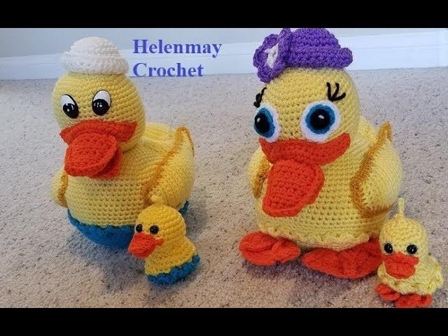Crochet Amigurumi Duck Part 2 of 3 DIY Video Tutorial