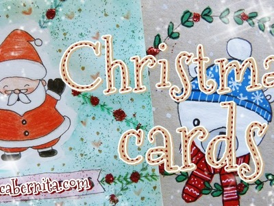 CUTE DIY CHRISTMAS CARDS ???? HOW TO DRAW SANTA CLAUS ????LAST MINUTE NEW YEAR CARD IDEAS