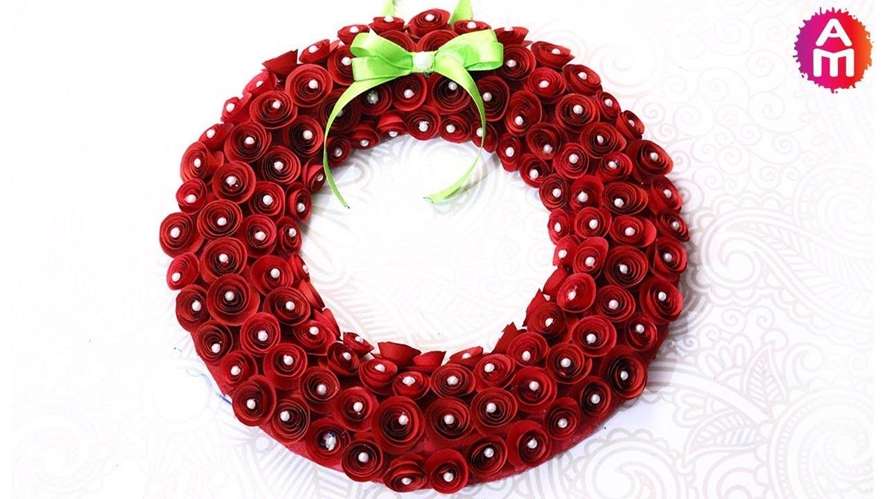 Cutest Christmas Wreath   Paper Crafts   DIY Christmas Decorations   Artsy Madhu 47