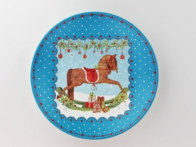 Decoupage plate - Painted plate - Decoupage tutorial - DIY - Do It Yourself