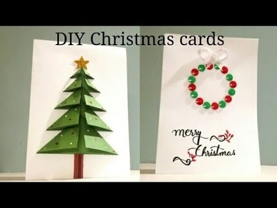 DIY 2 Easy Christmas Cards Ideas 2018 | 3D Christmas Cards 2018 | Art, Craft and Health
