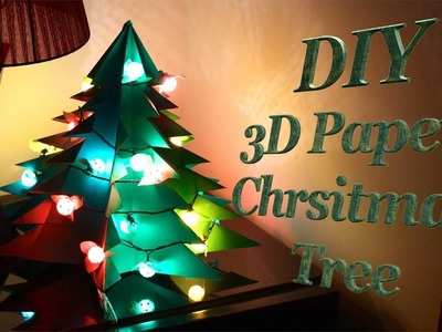 DIY : 3D Paper Christmas Tree???? How to Make Big Size Paper Xmas Tree