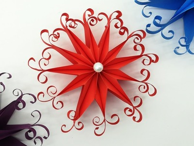 DIY 3D Quilling Christmas Snowflakes | Paper Decoration Ornaments | Do It Yourself
