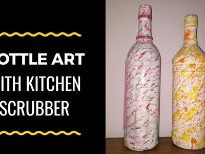 DIY   best out of waste   empty bottle painting by Asha Neog   Ang Creations