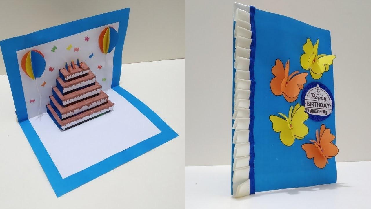 DIY Cake Pop Up Card For Birthday