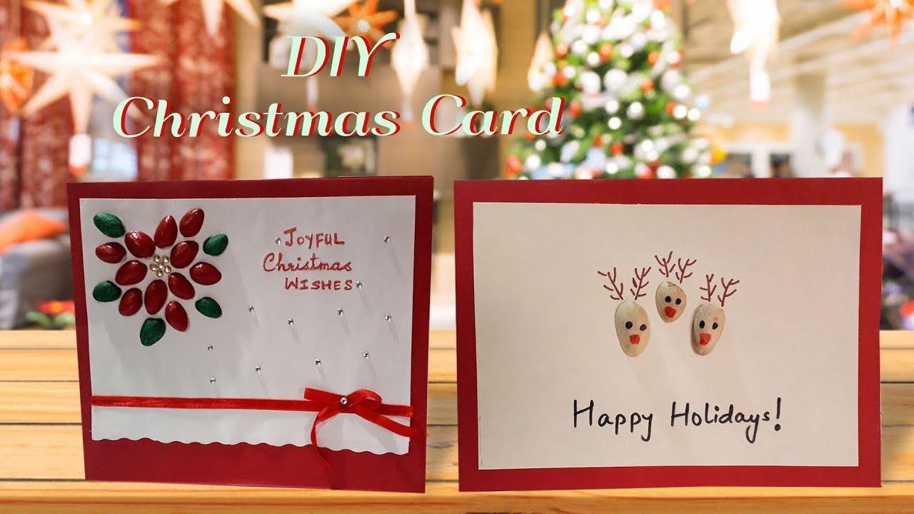 Christmas Card Greeting Idea.Diy Christmas Card Making Idea Pistachio Shell Card Making