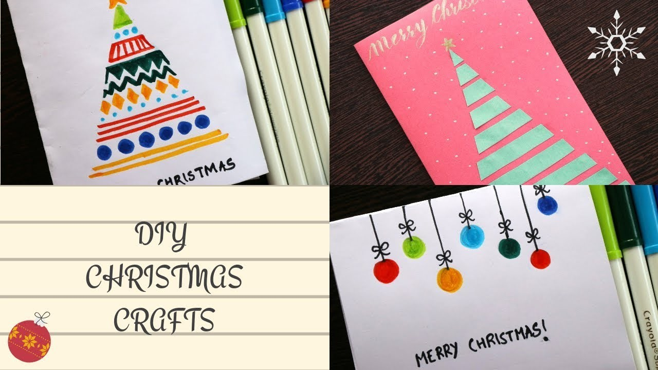cool crafts for kids diy christmas cards easy 5 minute crafts handmade 10640